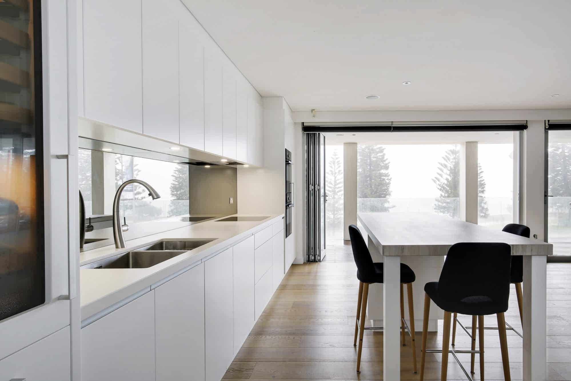 White minimalist kitchen