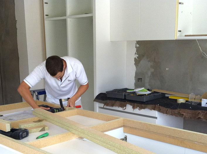 Dan Kitchens own installation team