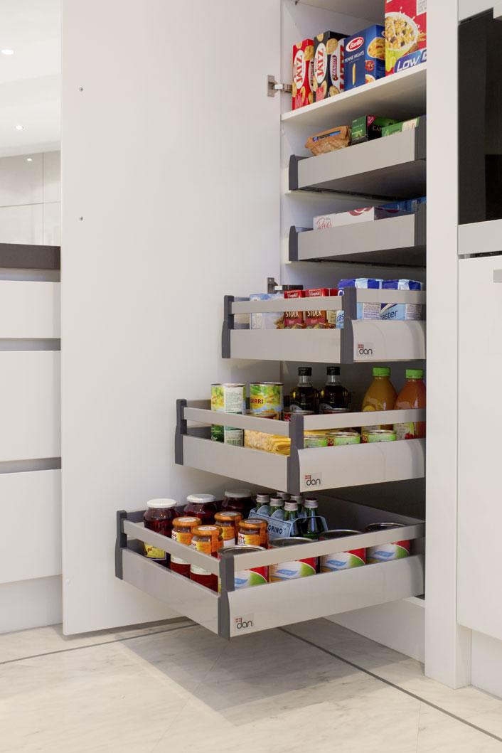Organised kitchen storage