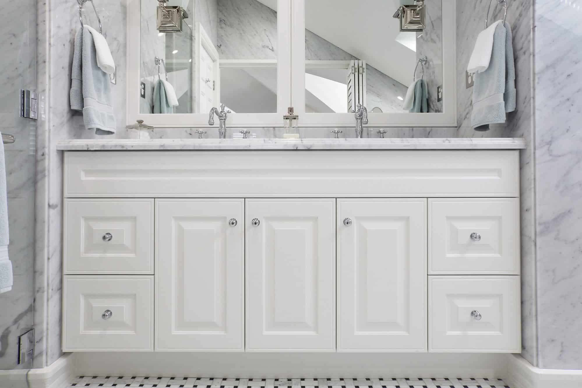 The detailed vanity unit