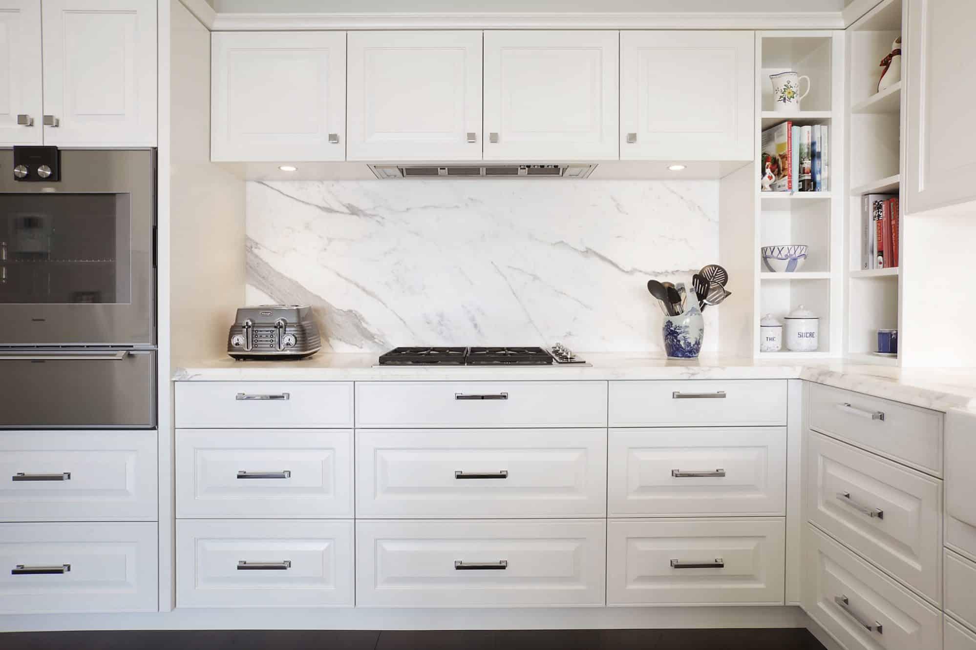 Calacatta marble splashback