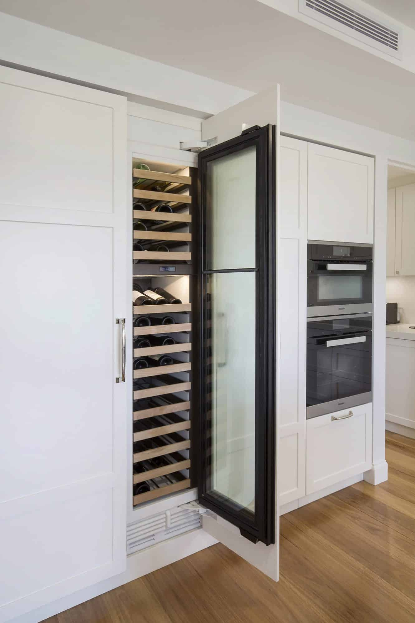 Sub-Zero integrated tall glass door wine fridge