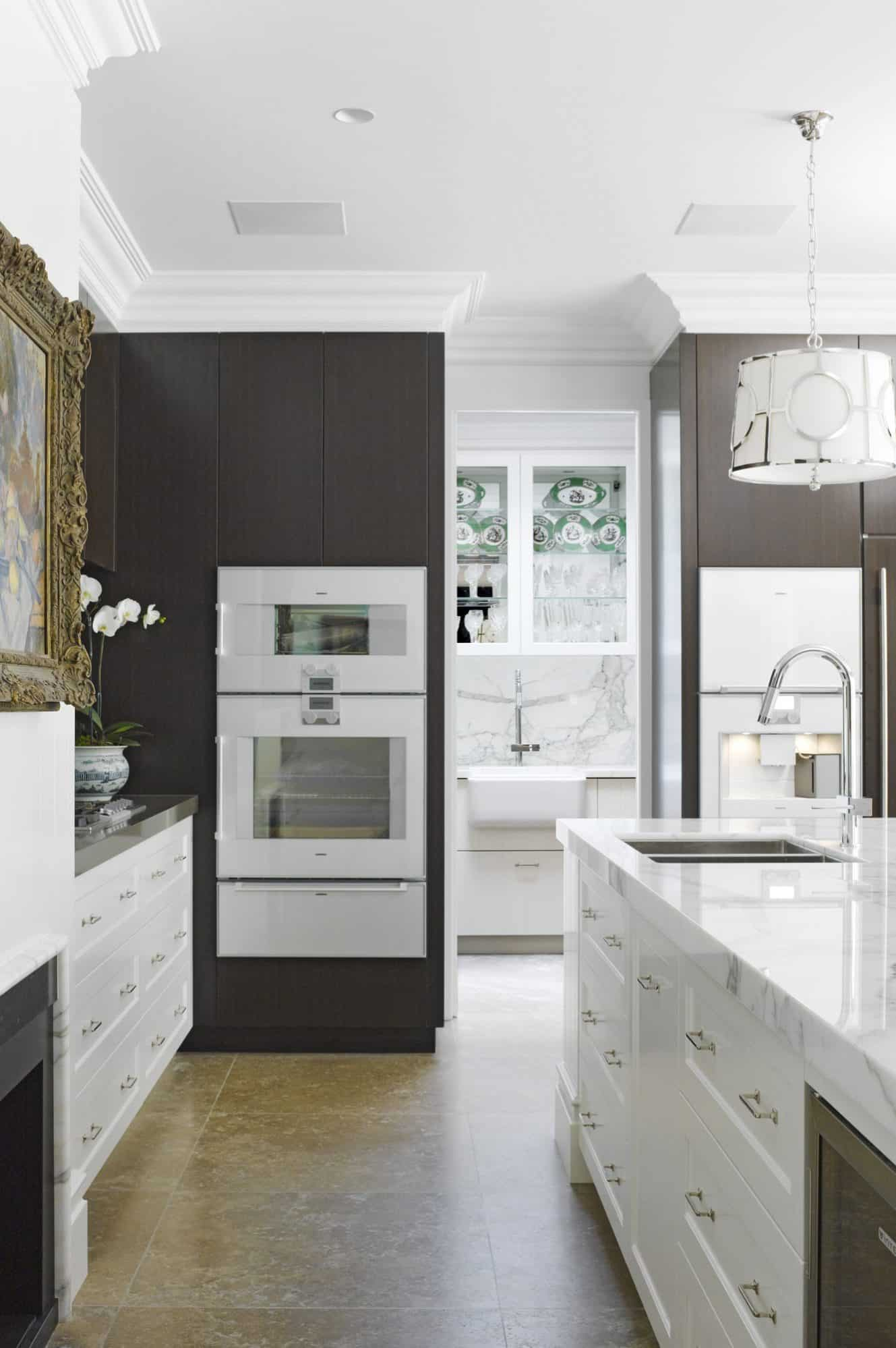 The kitchen includes a beautifully detailed scullery