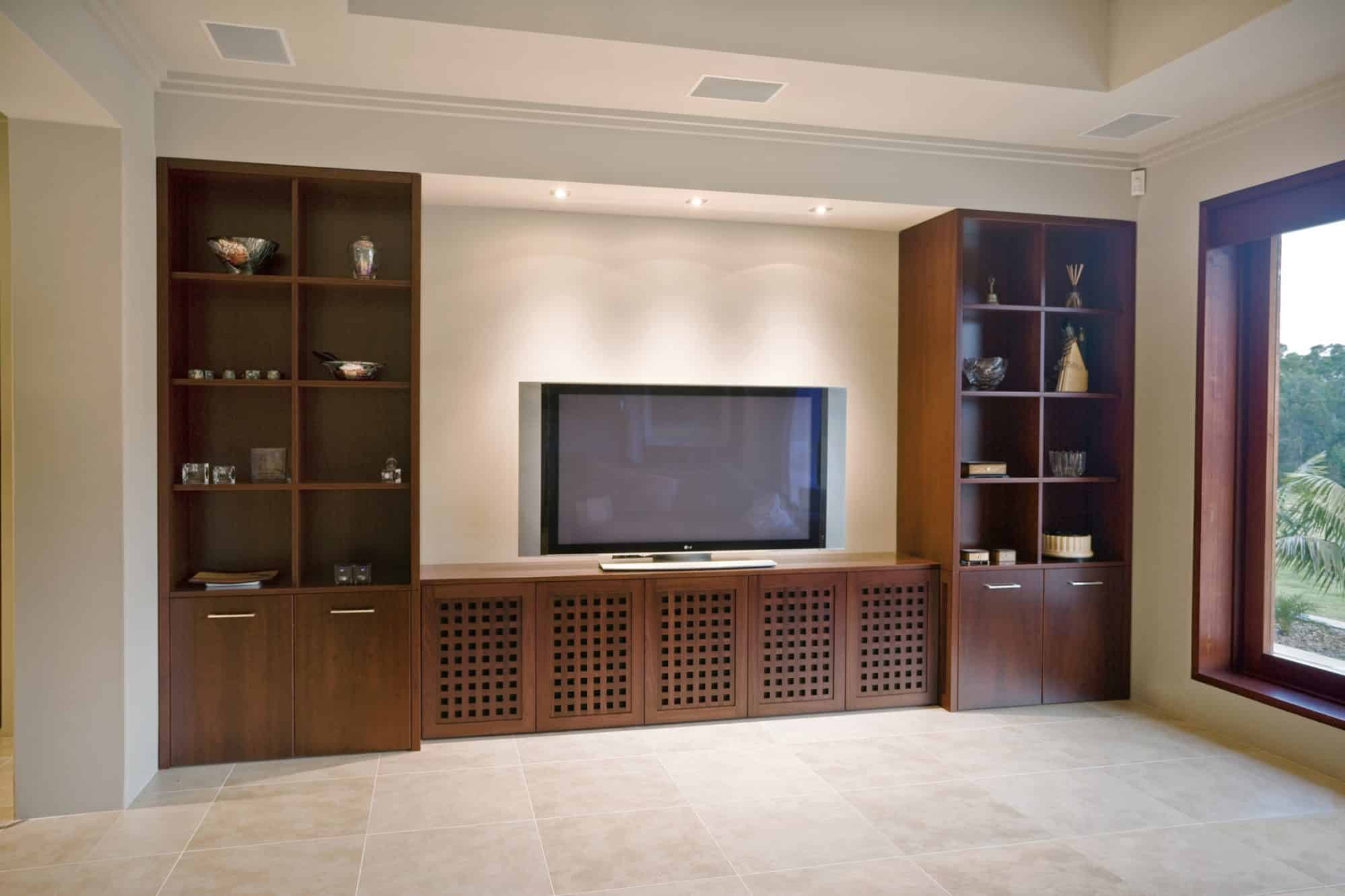 The timber TV unit