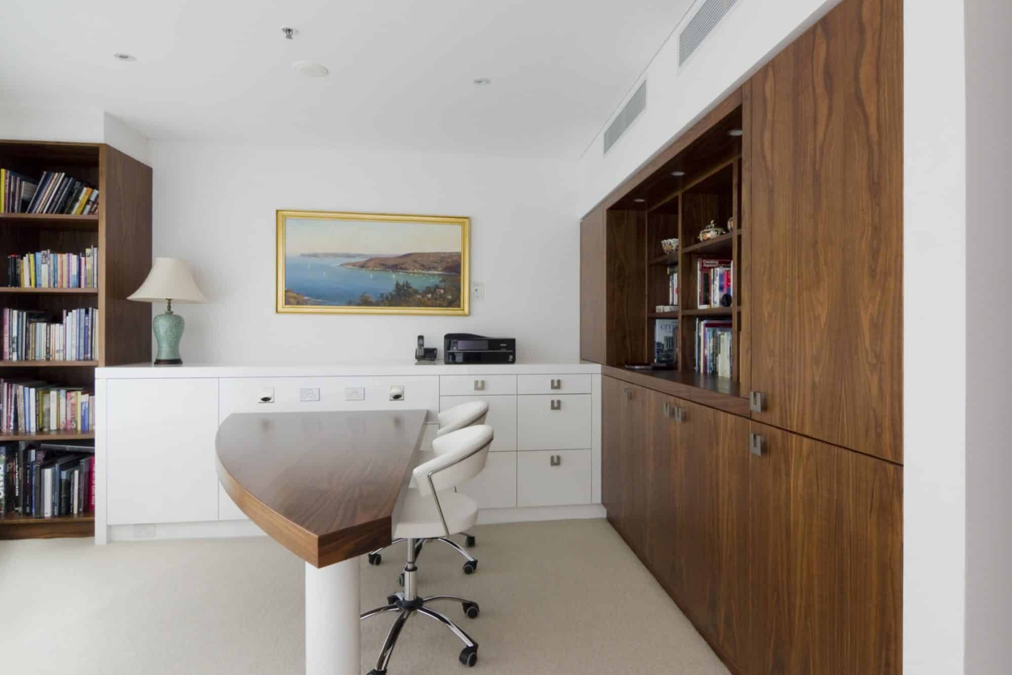 American Walnut timber office joinery