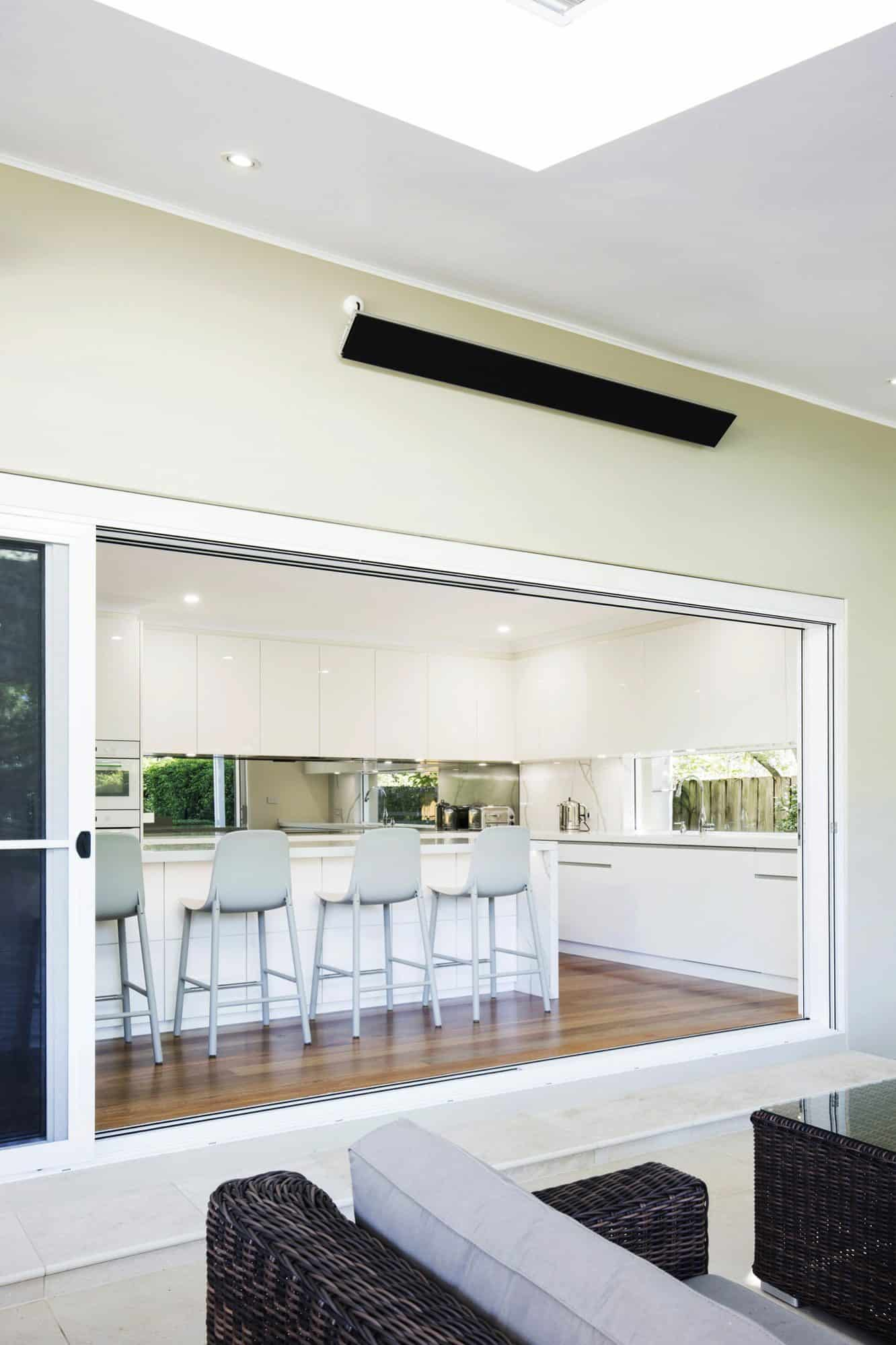 The kitchen is adjacent to the Entertaining Area